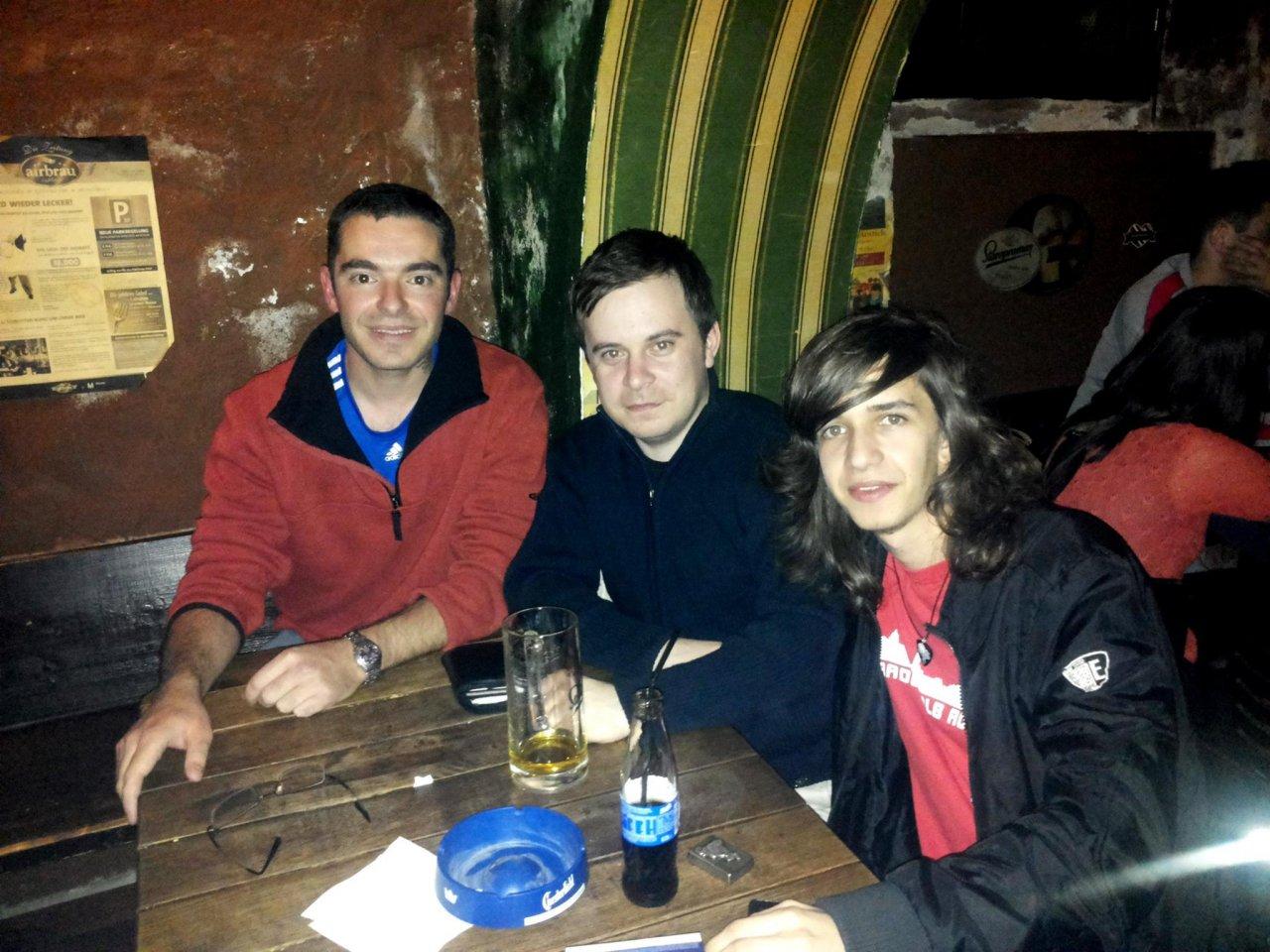 2015 martie - Iulian Sirbu (blogger turims) si Mario   Csipai (fondator Arad Free Tours)