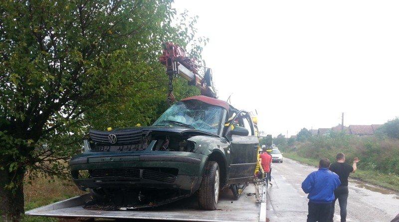 Tragedie pe DJ709: doi tineri au murit într-un accident la Pâncota
