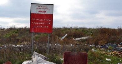 La margine de Arad, lanțul gunoaielor marchează orașul